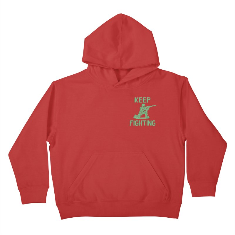 KEEP F/GHT/NG Kids Pullover Hoody by DYLAN'S SHOP
