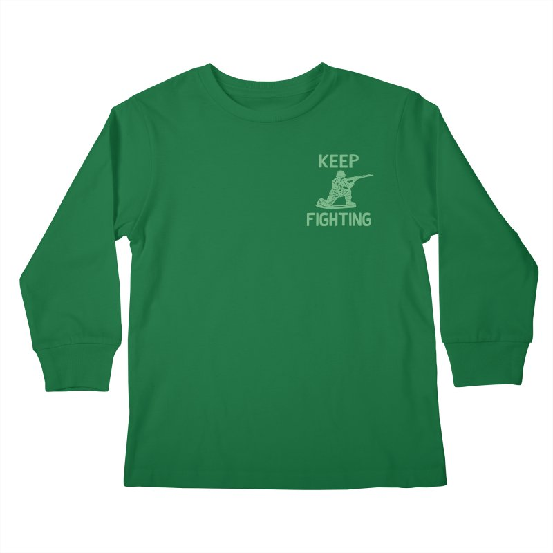 KEEP F/GHT/NG Kids Longsleeve T-Shirt by DYLAN'S SHOP