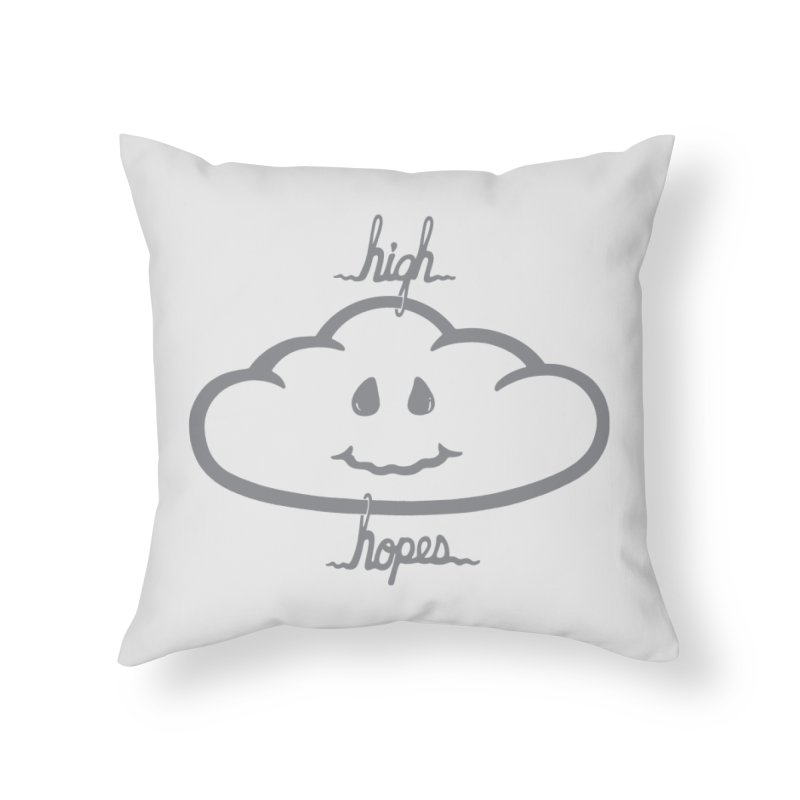 H/GH HOPES Home Throw Pillow by DYLAN'S SHOP