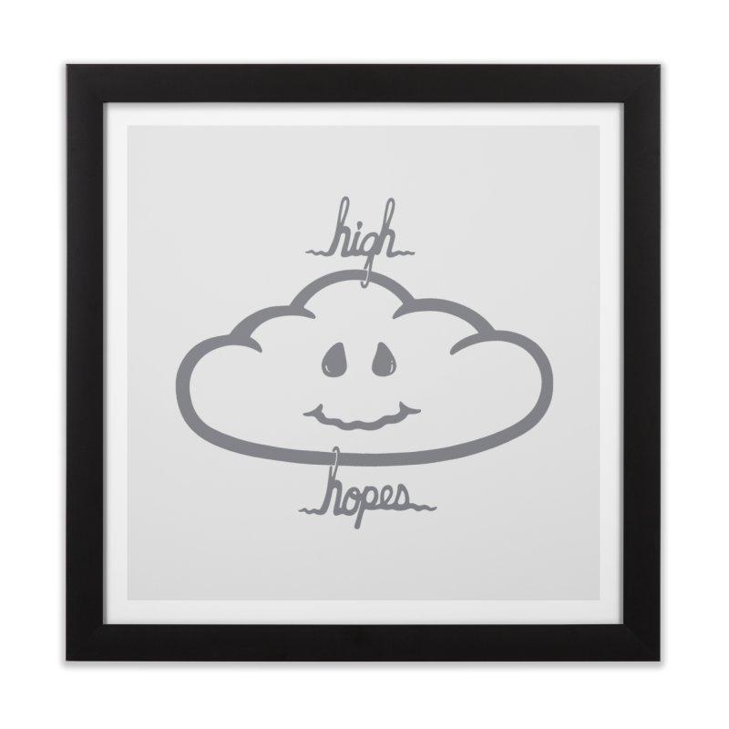 H/GH HOPES Home Framed Fine Art Print by DYLAN'S SHOP