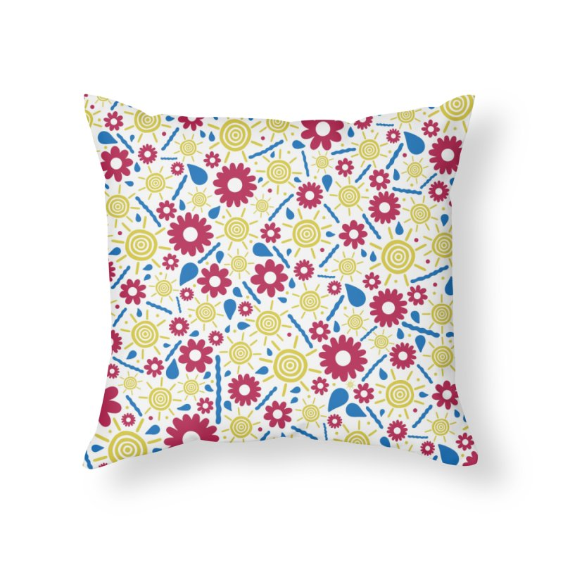 OUTS/DE Home Throw Pillow by DYLAN'S SHOP