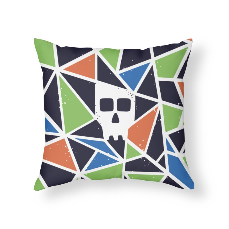 SKULLY Home Throw Pillow by DYLAN'S SHOP
