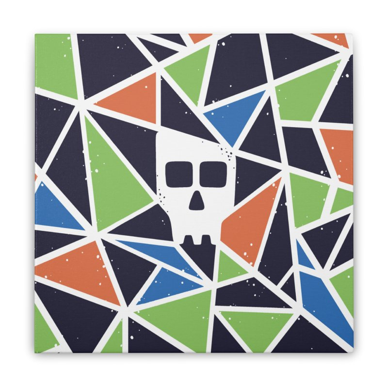 SKULLY Home Stretched Canvas by DYLAN'S SHOP