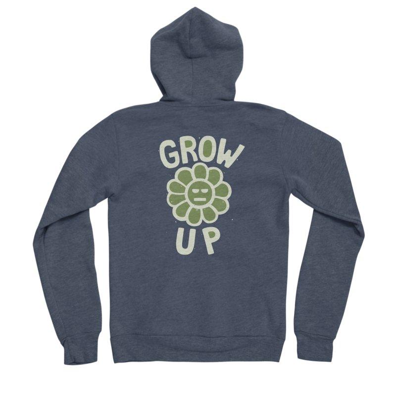 GROW THE F UP Men's Sponge Fleece Zip-Up Hoody by DYLAN'S SHOP