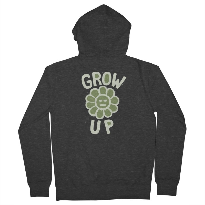 GROW THE F UP Women's French Terry Zip-Up Hoody by DYLAN'S SHOP
