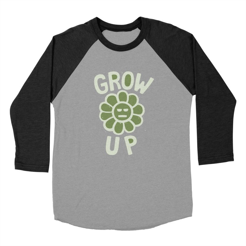 GROW THE F UP Men's Baseball Triblend Longsleeve T-Shirt by DYLAN'S SHOP