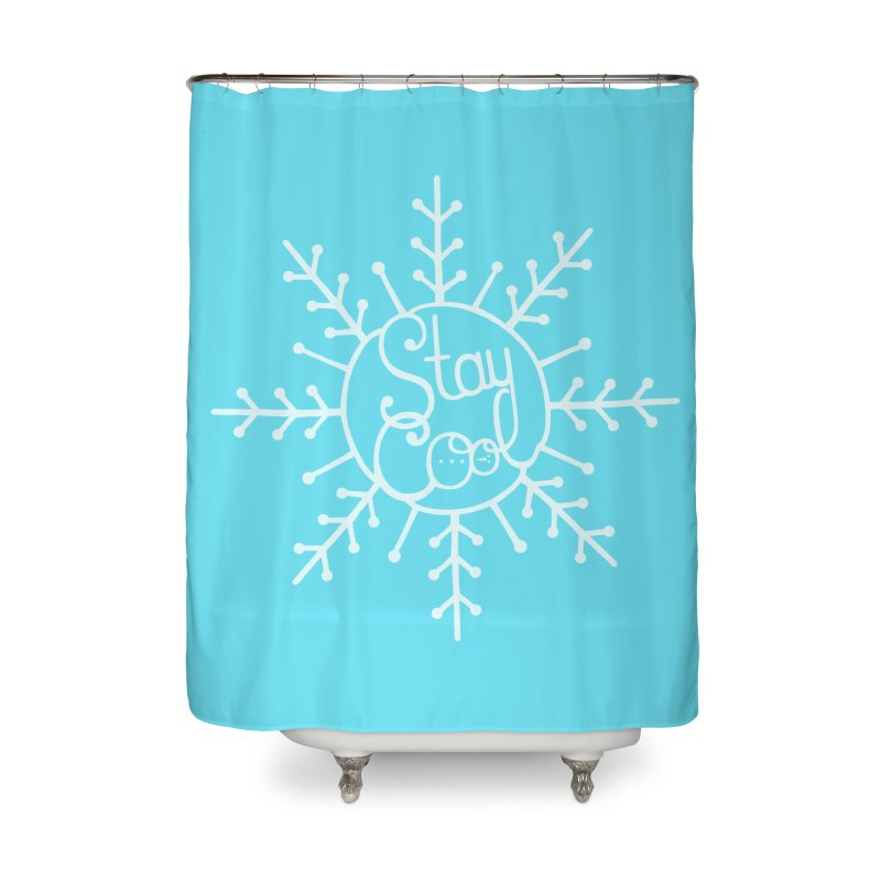 STAY COOL Home Shower Curtain by DYLAN'S SHOP
