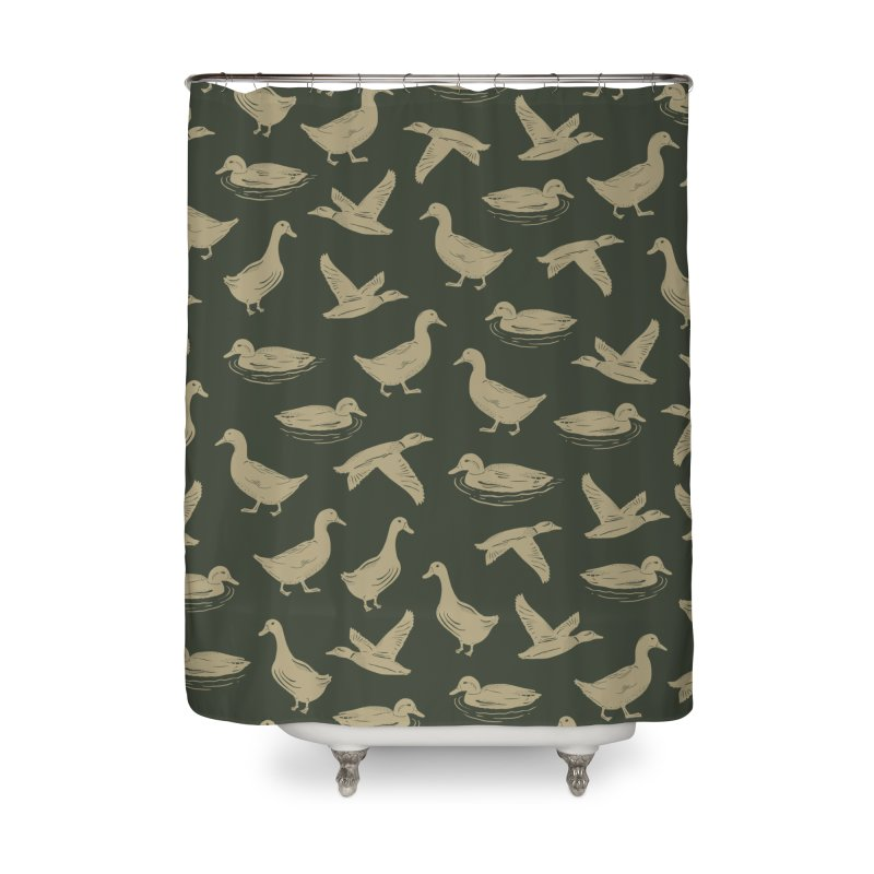 A FUCK-TON OF DUCKS Home Shower Curtain by DYLAN'S SHOP