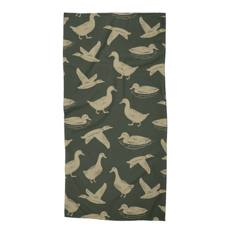A FUCK-TON OF DUCKS Accessories Beach Towel by DYLAN'S SHOP