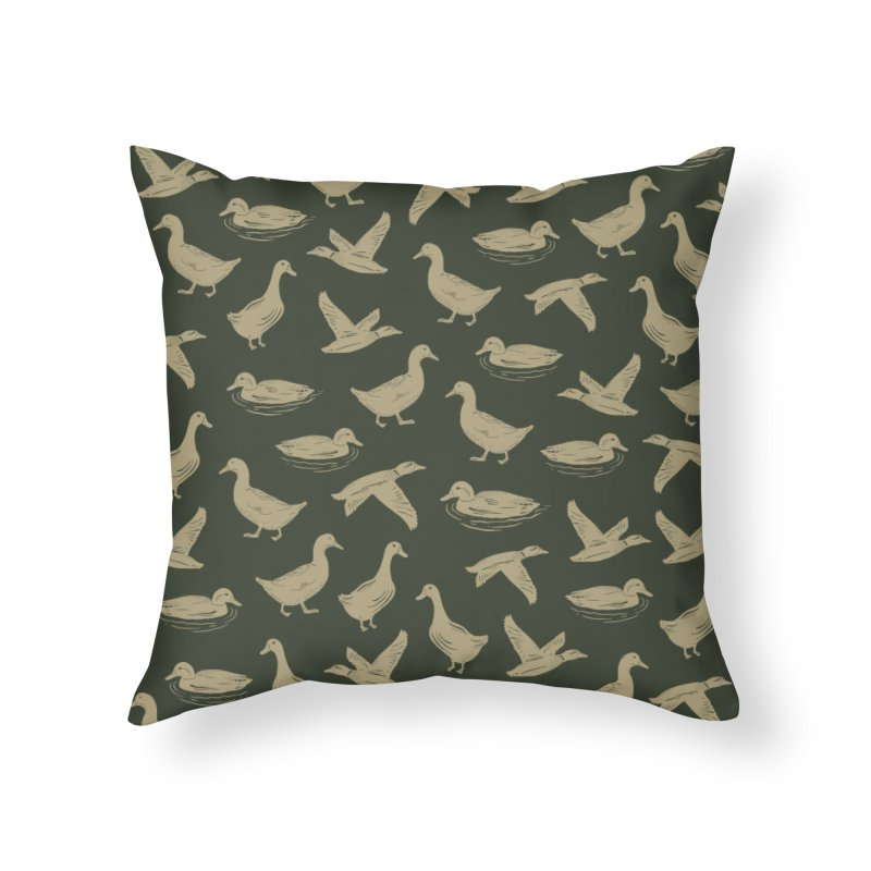 A FUCK-TON OF DUCKS Home Throw Pillow by DYLAN'S SHOP