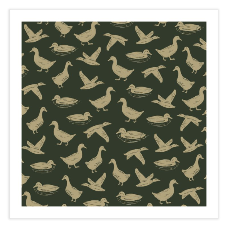 A FUCK-TON OF DUCKS Home Fine Art Print by DYLAN'S SHOP