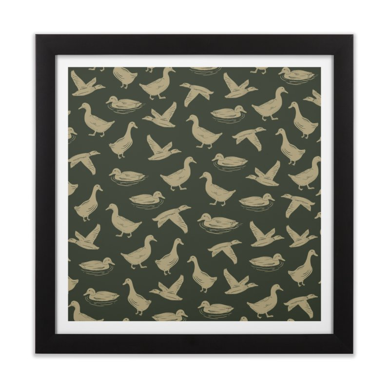 A FUCK-TON OF DUCKS Home Framed Fine Art Print by DYLAN'S SHOP