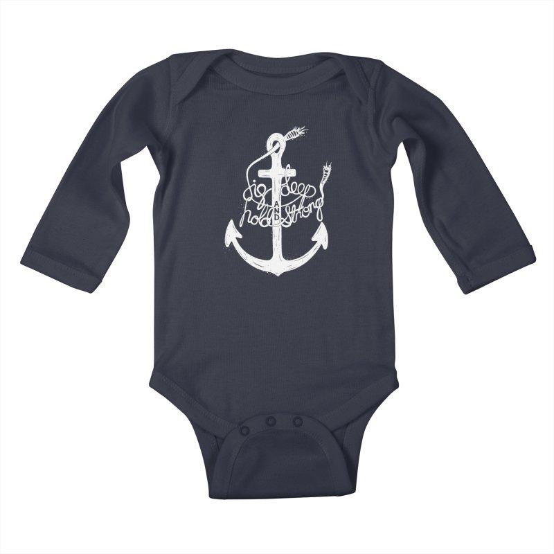 D/G DEEP Kids Baby Longsleeve Bodysuit by DYLAN'S SHOP