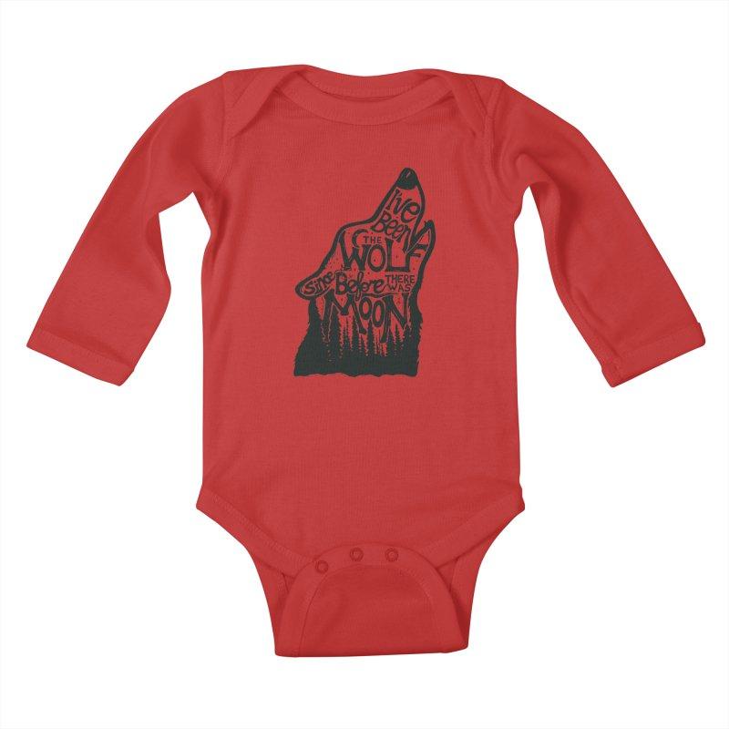 THE WOLF Kids Baby Longsleeve Bodysuit by DYLAN'S SHOP