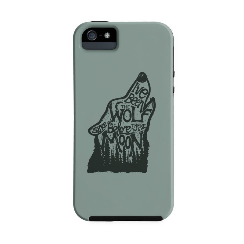 THE WOLF in iPhone SE / 5 / 5S Phone Case Tough by DYLAN'S SHOP