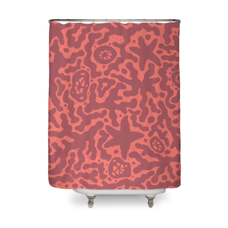 CORAL Home Shower Curtain by DYLAN'S SHOP