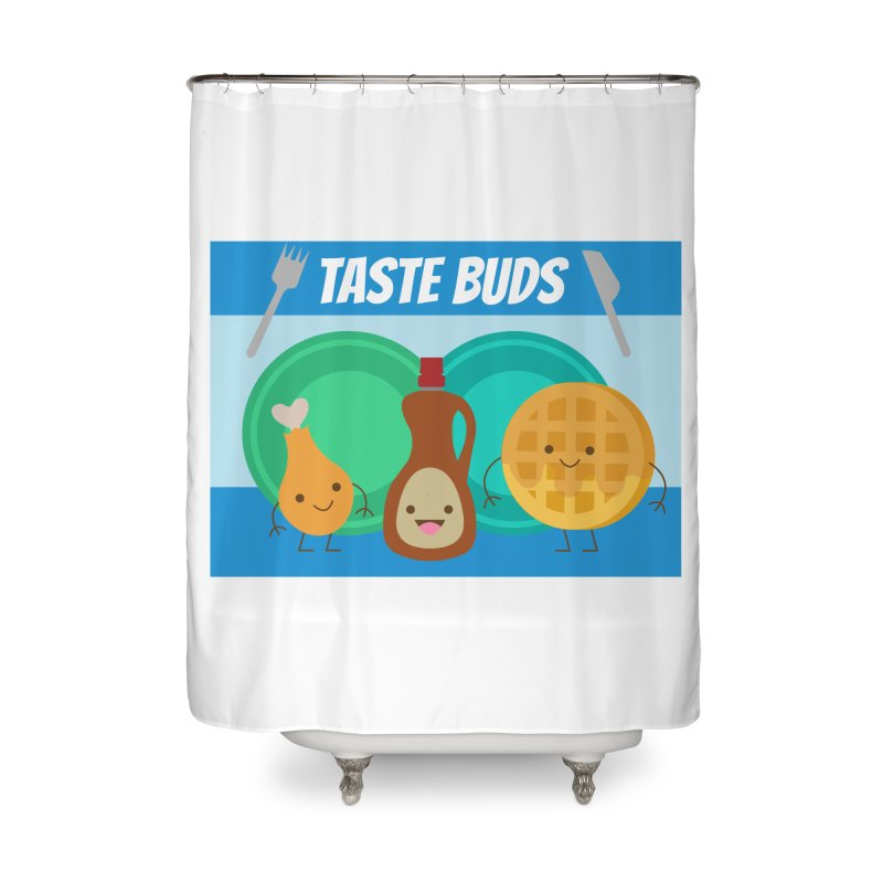 Taste Buds Home Shower Curtain by Angela Tarantula