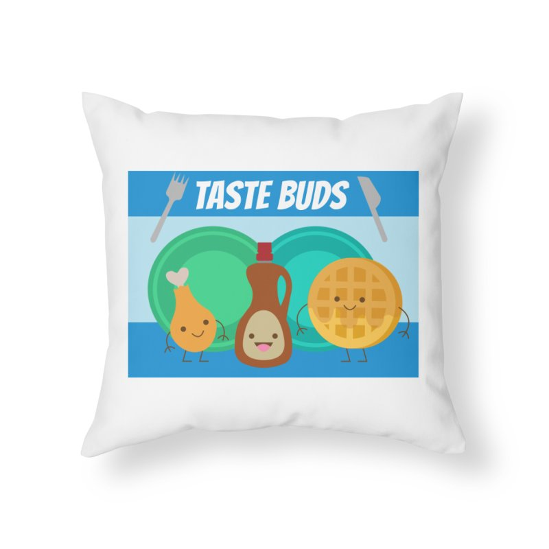 Taste Buds Home Throw Pillow by Angela Tarantula