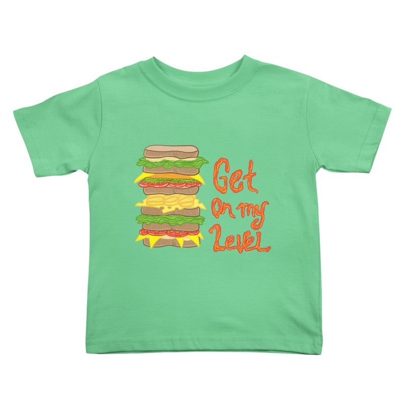 Get on My Level Kids Toddler T-Shirt by Angela Tarantula