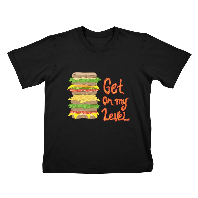 Get on My Level Kids T-shirt by Angela Tarantula