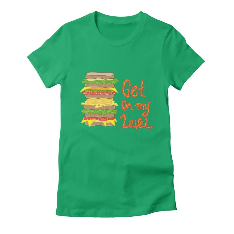 Get on My Level Women's Fitted T-Shirt by Angela Tarantula