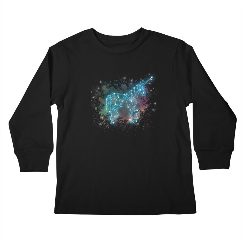Monoceros  Kids Longsleeve T-Shirt by Angela Tarantula
