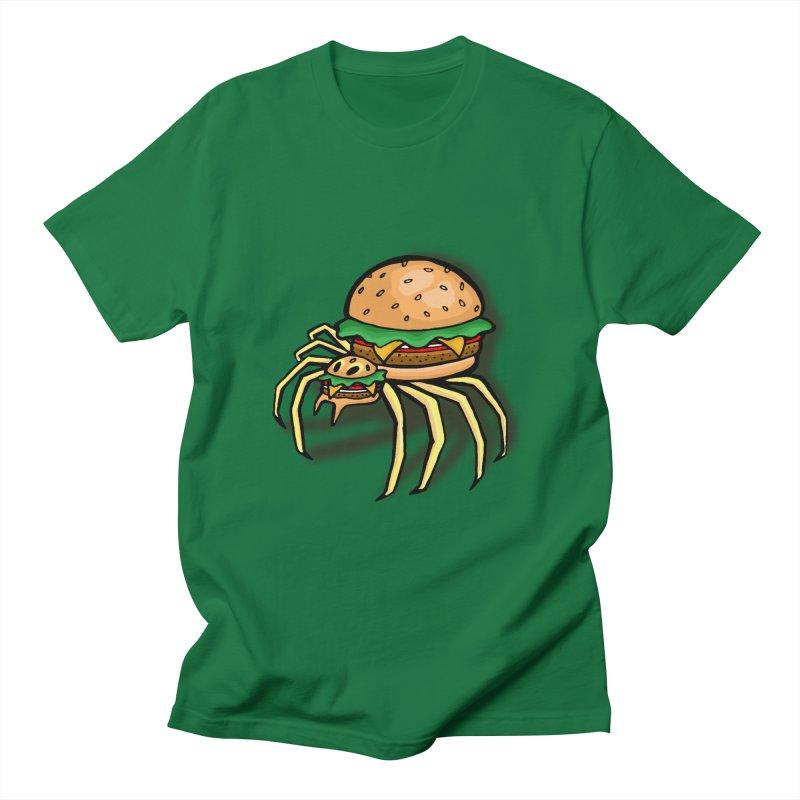 Cheeseburger Spider Men's T-Shirt by Angela Tarantula