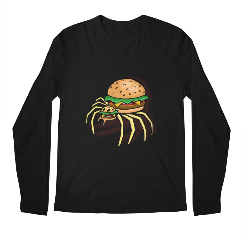 Cheeseburger Spider Men's Regular Longsleeve T-Shirt by Angela Tarantula