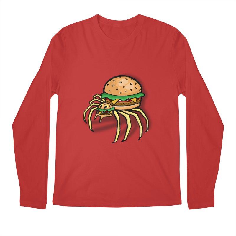 Cheeseburger Spider Men's Regular Longsleeve T-Shirt by Angela Tarantula