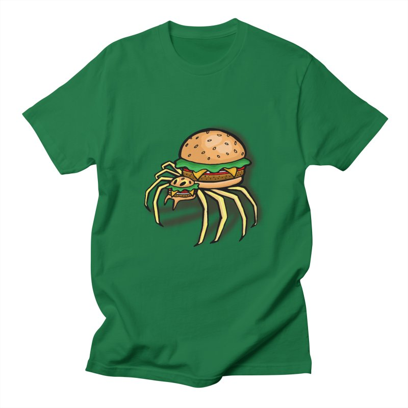 Cheeseburger Spider Men's T-Shirt by Angela Tarantula