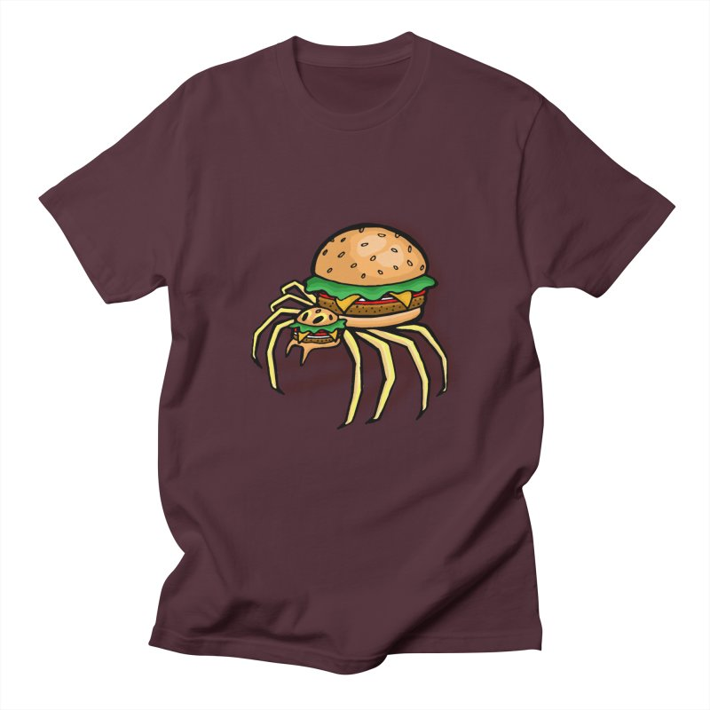 Cheeseburger Spider Men's Regular T-Shirt by Angela Tarantula