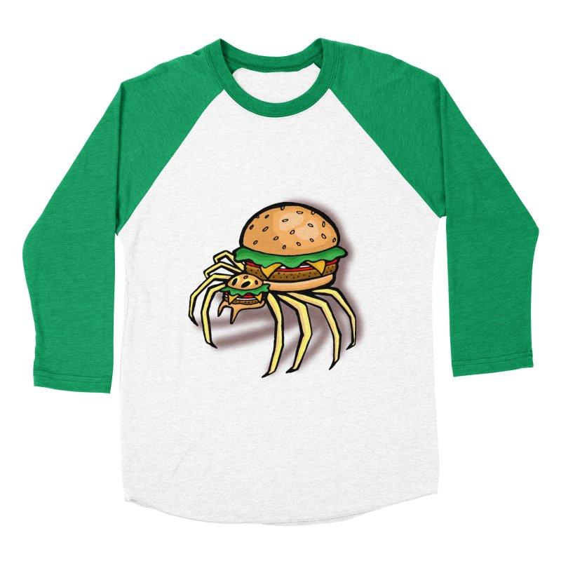 Cheeseburger Spider Women's Baseball Triblend T-Shirt by Angela Tarantula