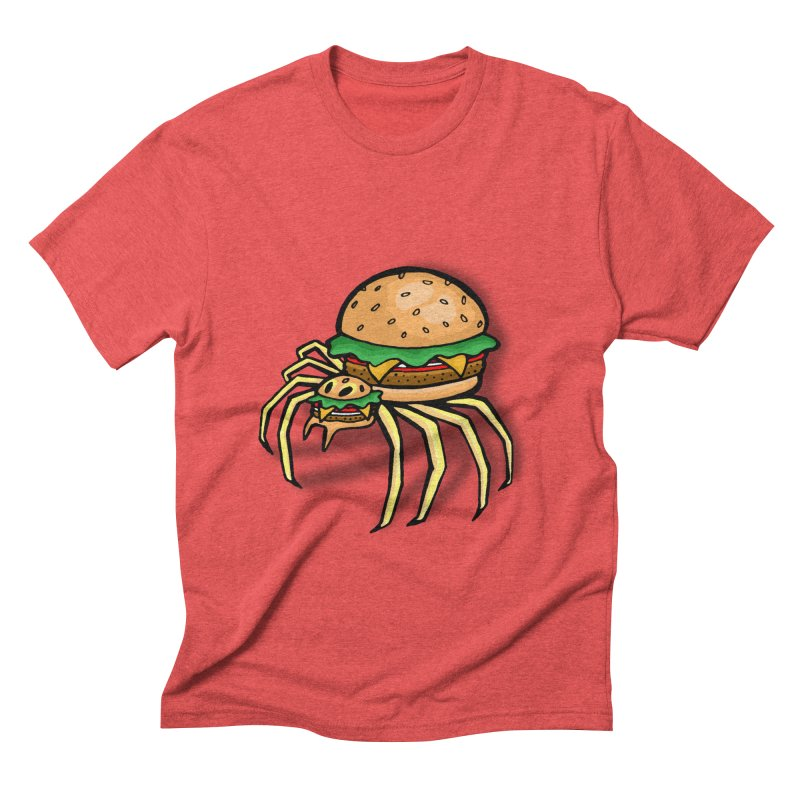 Cheeseburger Spider Men's Triblend T-shirt by Angela Tarantula