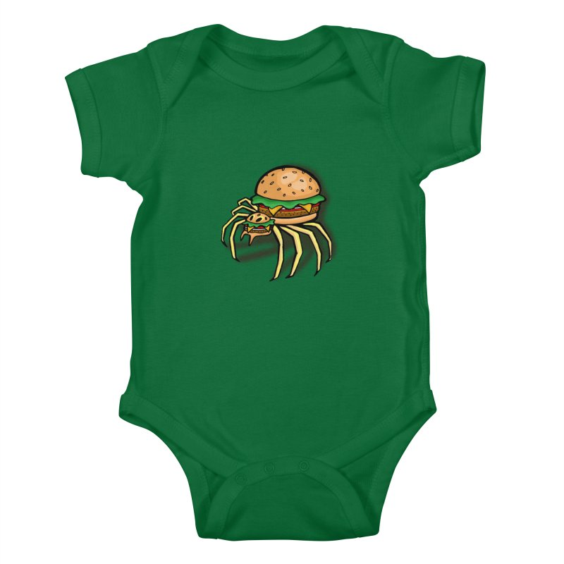 Cheeseburger Spider Kids Baby Bodysuit by Angela Tarantula