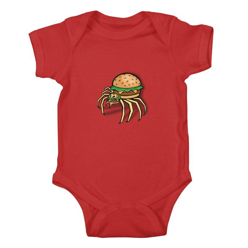 Cheeseburger Spider Kids Baby Bodysuit by Angela Tarantula