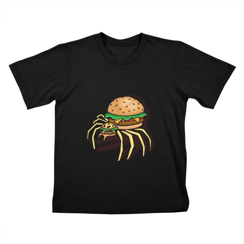 Cheeseburger Spider Kids T-Shirt by Angela Tarantula