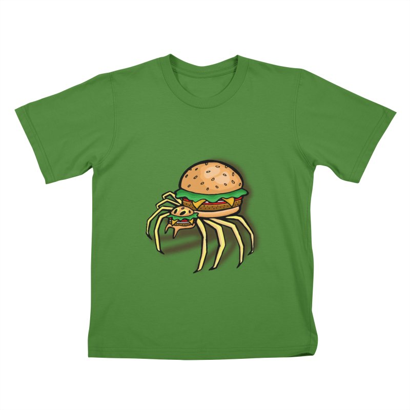 Cheeseburger Spider Kids T-shirt by Angela Tarantula