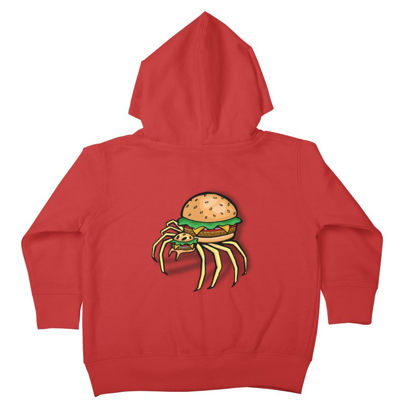 Cheeseburger Spider Kids Toddler Zip-Up Hoody by Angela Tarantula
