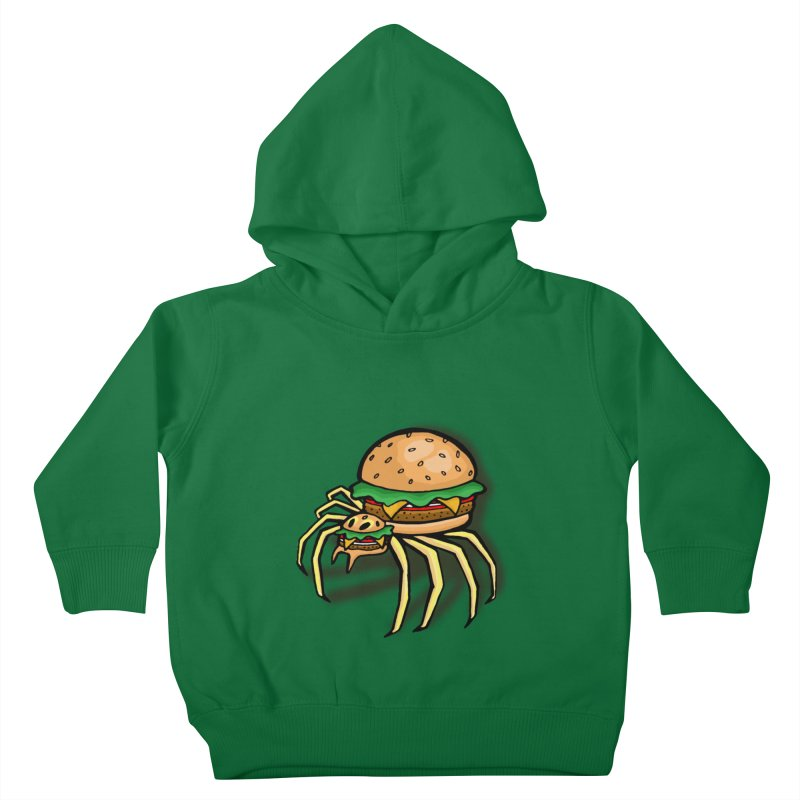 Cheeseburger Spider Kids Toddler Pullover Hoody by Angela Tarantula