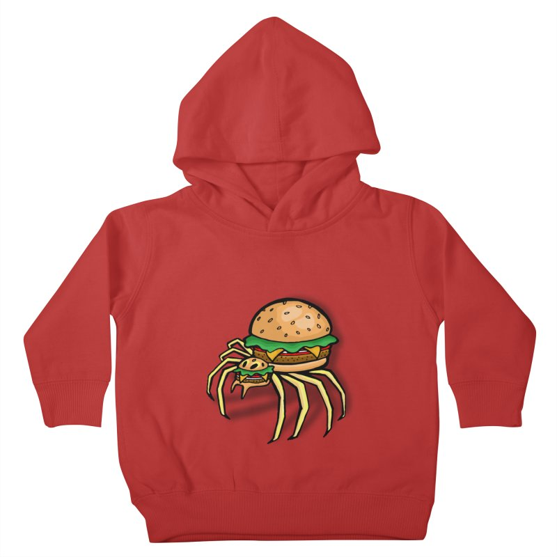 Cheeseburger Spider Kids Toddler Pullover Hoody by Angela Tarantula