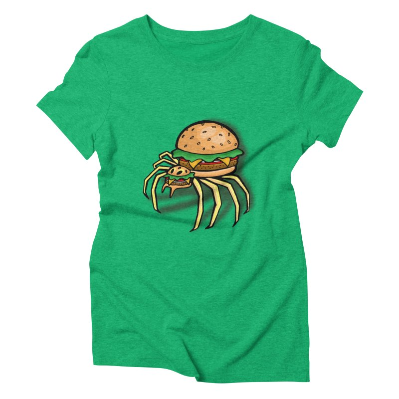 Cheeseburger Spider Women's Triblend T-shirt by Angela Tarantula