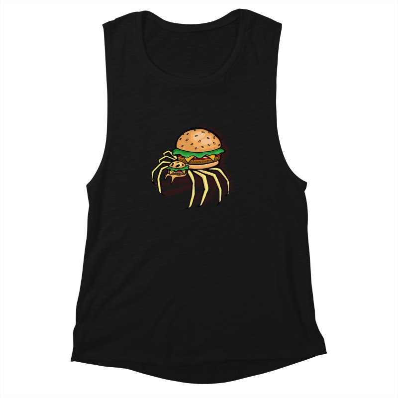 Cheeseburger Spider Women's Muscle Tank by Angela Tarantula
