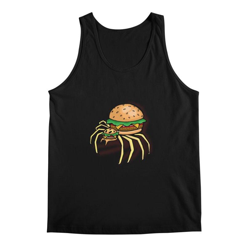 Cheeseburger Spider Men's Regular Tank by Angela Tarantula
