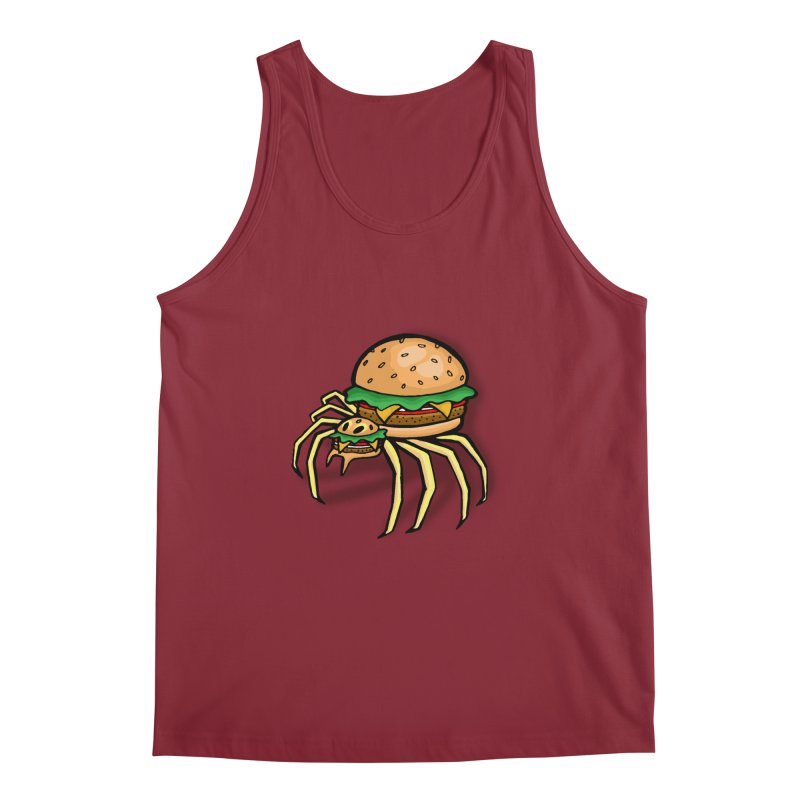 Cheeseburger Spider Men's Regular Tank by Angela Tarantula