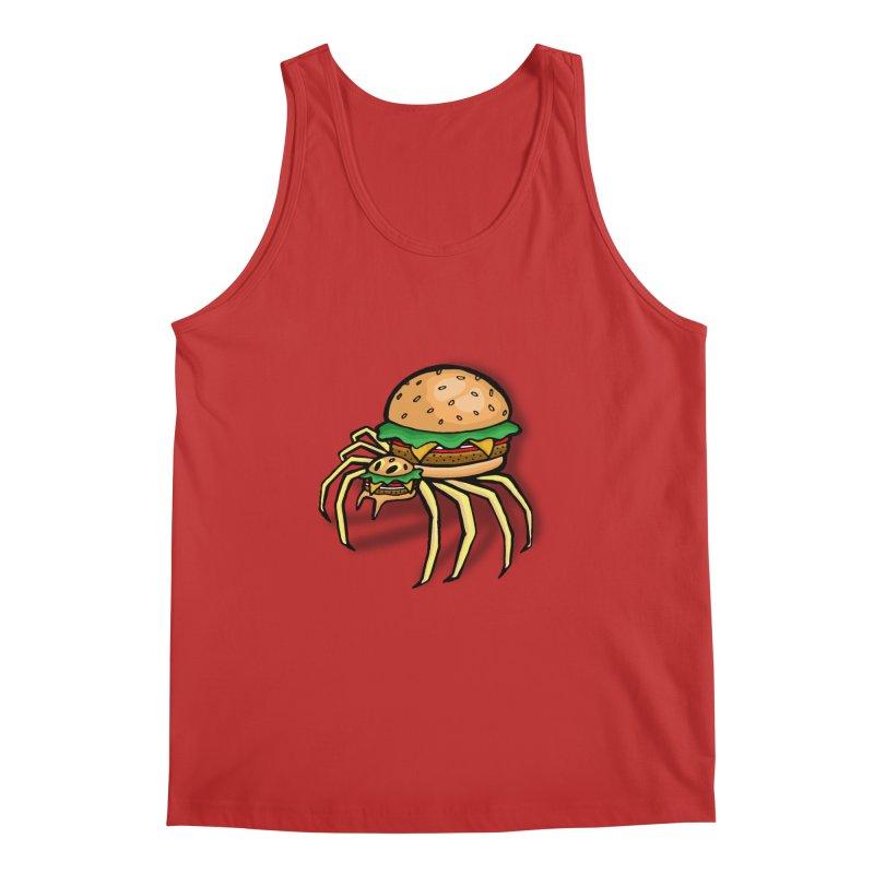 Cheeseburger Spider Men's Tank by Angela Tarantula