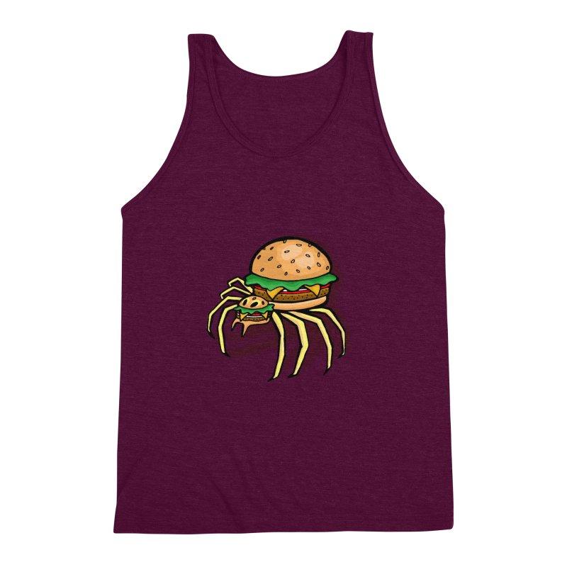 Cheeseburger Spider Men's Triblend Tank by Angela Tarantula
