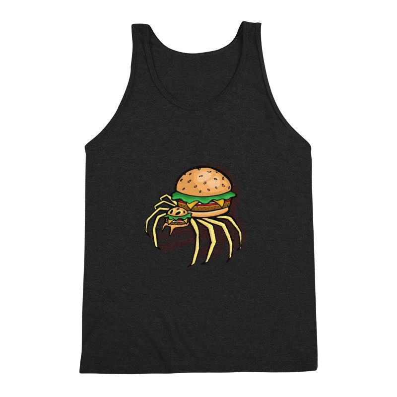 Cheeseburger Spider Men's Triblend Tank by Angela Tarantula