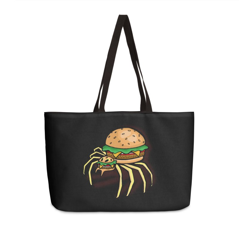 Cheeseburger Spider Accessories Bag by Angela Tarantula