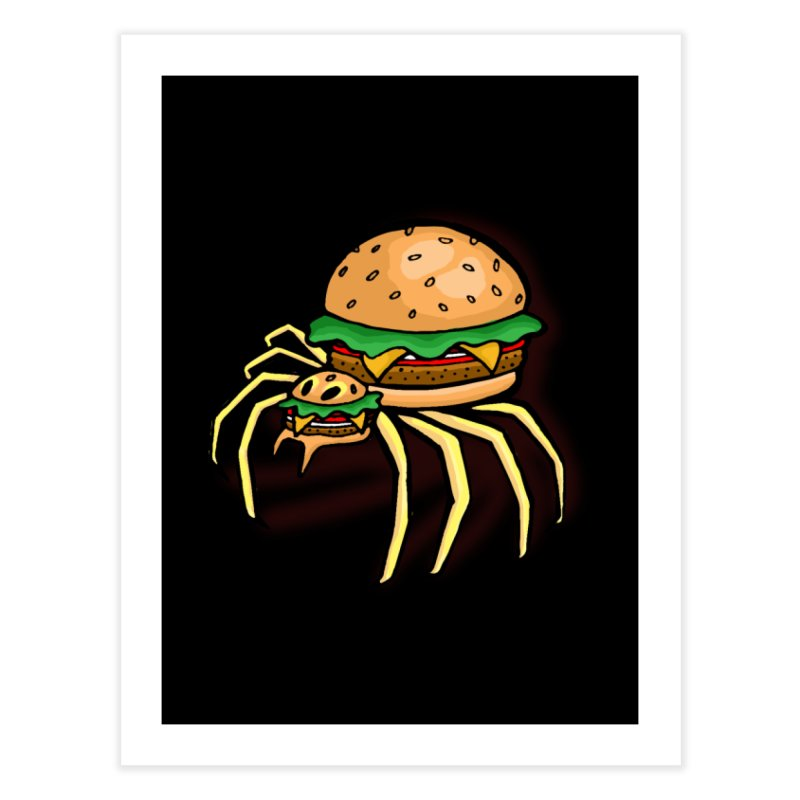 Cheeseburger Spider Home Fine Art Print by Angela Tarantula
