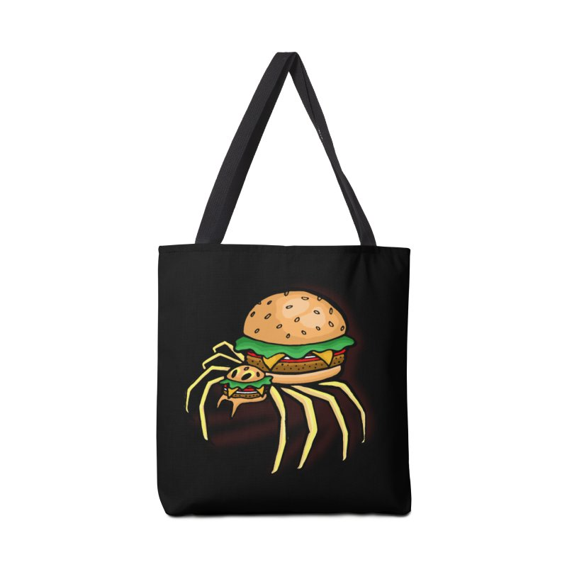 Cheeseburger Spider Accessories Bag by Angela Tarantula